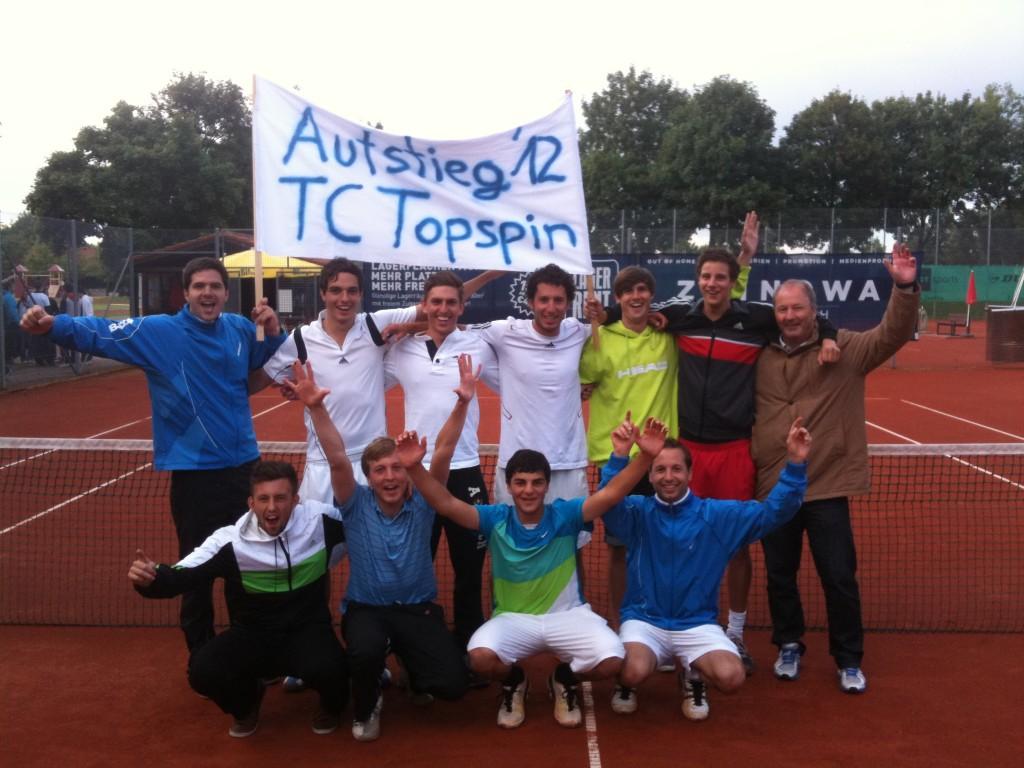 TC Topspin Aufstieg Bezirksliga Herren 2012