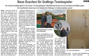Renovierung Clubheim TC Grafing 2017