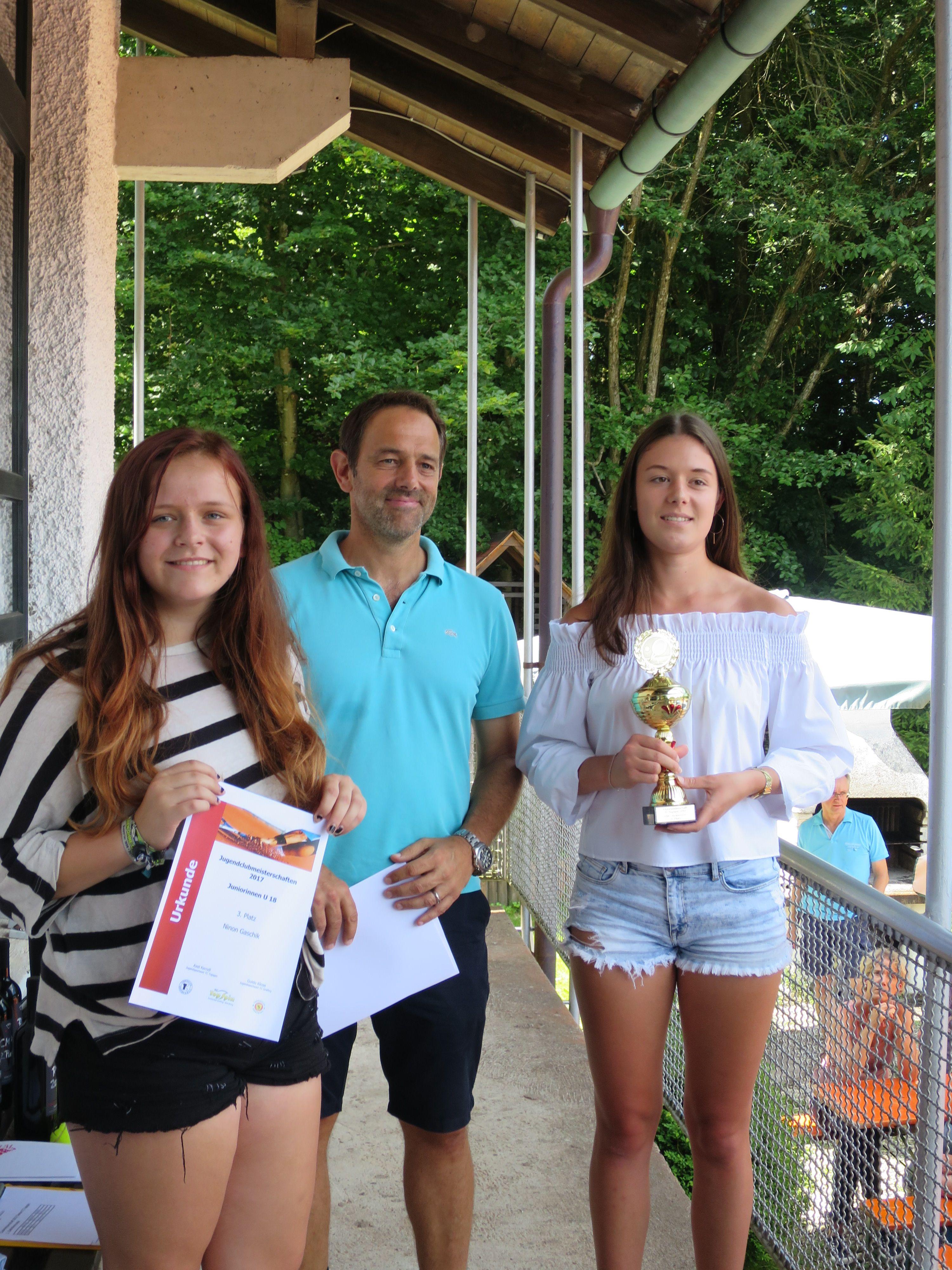 Sieger Juniorinnen U18 Clubmeisterschaft TC Topspin Grafing Ebersberg 2017