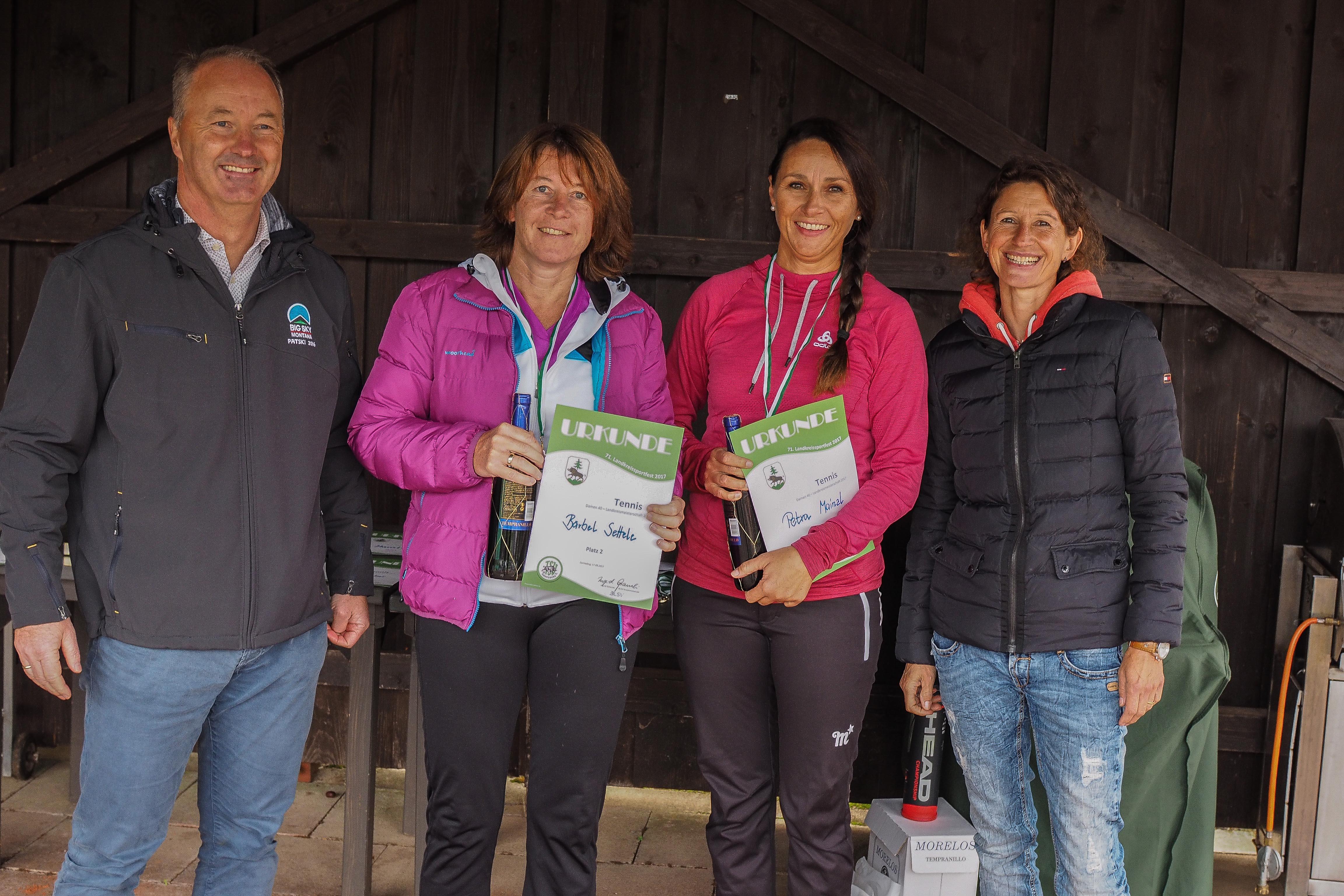 Sieger Damen 40 Landkreismeisterschaft Ebersberg 2017