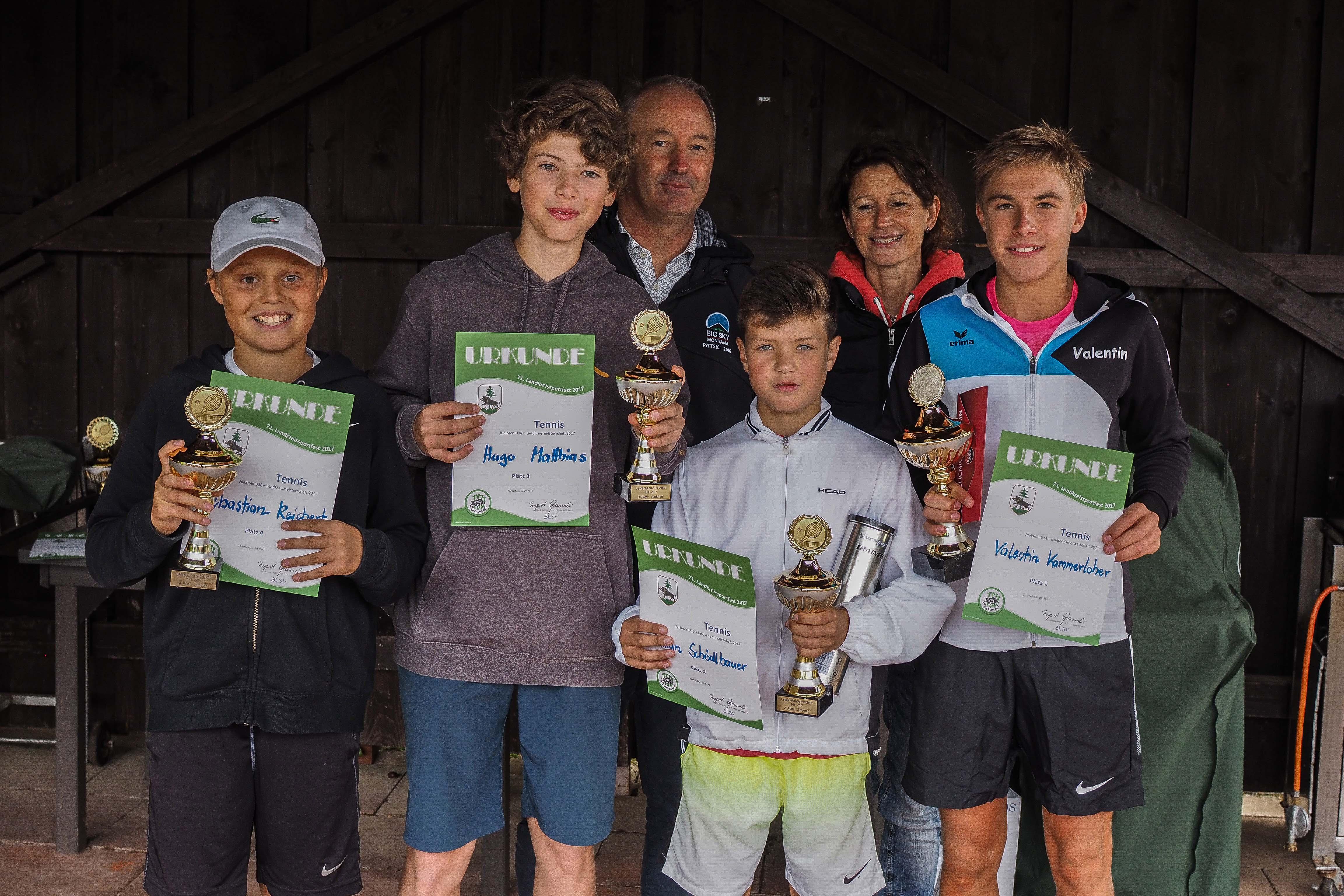 Sieger U18 männlich Landkreismeisterschaft Ebersberg 2017